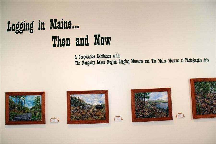 LOGGING in MAINE...THEN and NOW